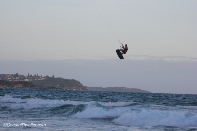 Kite surfer getting plenty of air at Manly
