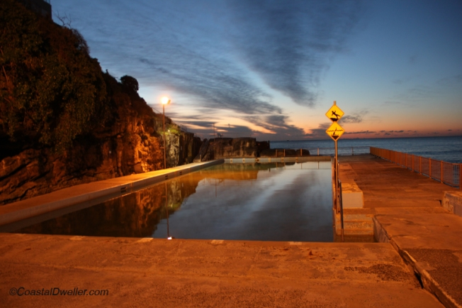 Sunrise over Queenscliff pool
